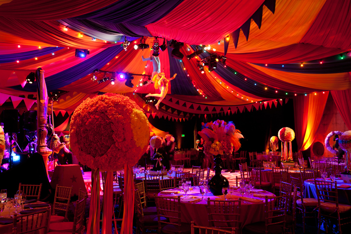 This Bat Mitzvah Was A Circus on 16 creative bat ceiling ideas for